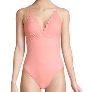 La Blanca Coral Petal Pusher One-Piece Swimsuit